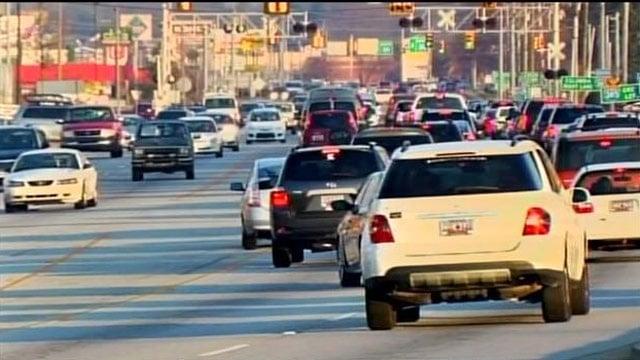 Traffic along Woodruff Road. (Feb. 26, 2014/FOX Carolina)