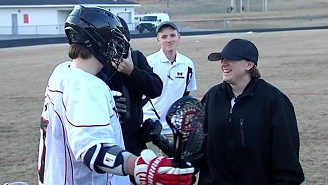 Kayla (right) reveals herself to her brother (left). (Feb. 26, 2014/FOX Carolina)