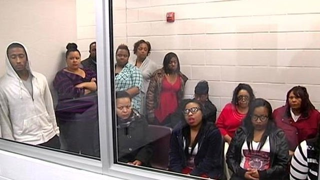 Family in court for Taylor's bond hearing. (Feb. 27, 2014/FOX Carolina)
