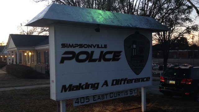 A sign outside of the Simpsonville Police Dept. (File/FOX Carolina)