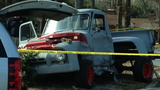 The victim's truck. (Feb. 28, 2014/FOX Carolina)