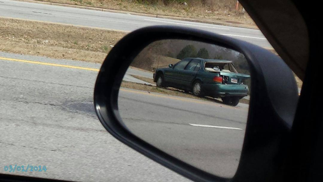 Crash involving trooper in Easley (Courtesy: Jody Green/ Facebook)