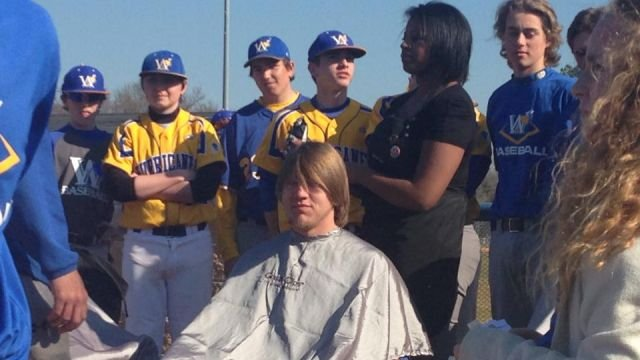 Wren baseball players shave their heads (Courtesy: Facebook)