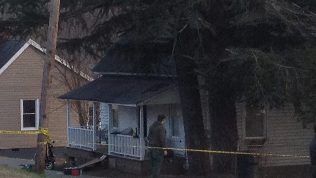 The home where the deadly shooting took place. (March 5, 2014/FOX Carolina)
