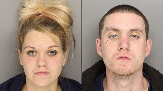 Amber Hamilton (L) and Daniel Brooks (Source: Greenville Police Dept.)