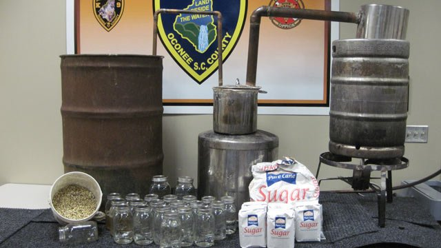 The Moonshine still was seized just outside of Westminster. (Source: Oconee Co. Sheriff's Office)
