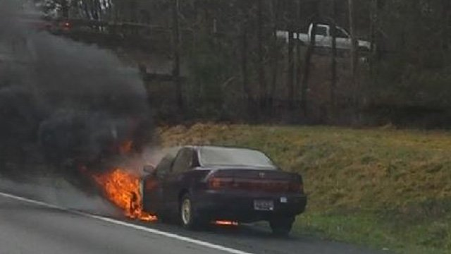 Car Fire Brings I 85s To Standstill Through Greenville