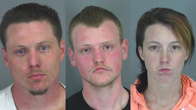Mark Hyman, Tyler Hyman and Kaci Kirby (Source: Spartanburg Co. Sheriff's Office)