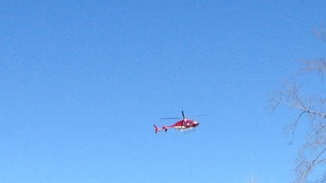 Boy airlifted after explosion (Courtesy: Mitchell Standsbury)