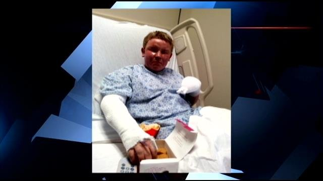 Logan at the Augusta Burn Center prior to surgery (Courtesy: Family)