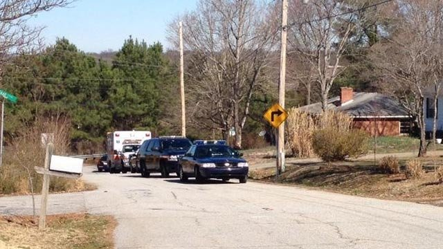 Deputies respond to Conley Street. (March 10, 2014/FOX Carolina iWitness)