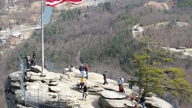Great hiking weather at Chimney Rock!  From Zach Warner