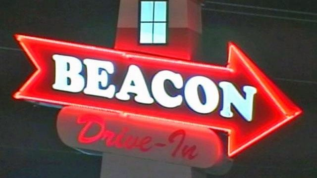 The Beacon Drive-In sign. (File/FOX Carolina)