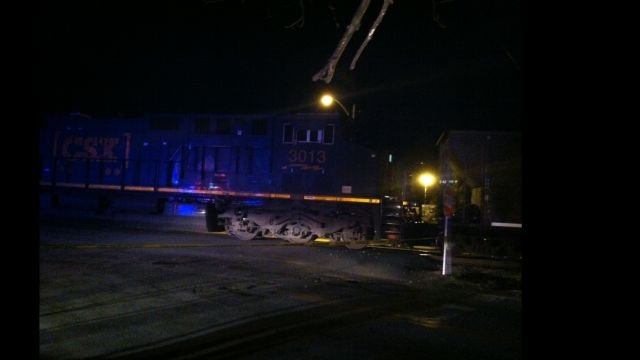 Scene of the crash in Woodruff. (March 12, 2014/FOX Carolina)