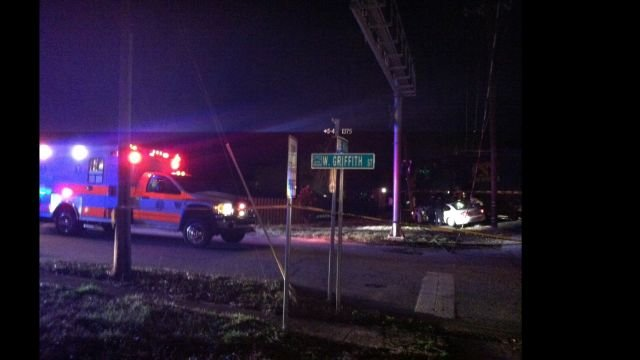 Scene of the crash in Woodruff. (March 12, 2014/FOX Carolina)
