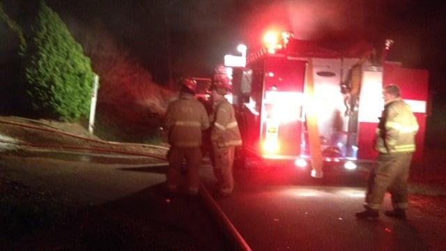 Firefighters at the scene along Cornerwood. (March 13, 2014/FOX Carolina)