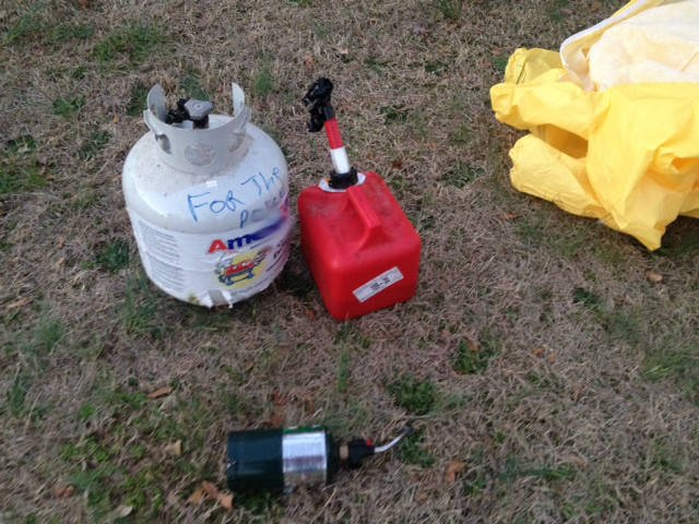Deputies say these elements were used to create an explosive device (Fox Carolina)