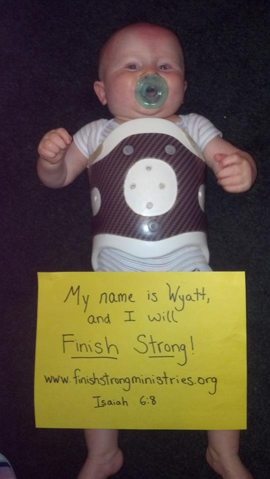 A photo of Wyatt for Finish Strong Ministries fundraiser. (Source: Wyatt's Fight Against TM Facebook page)