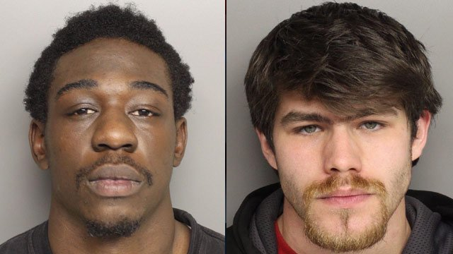 Tonarious Hyler (L) and David Simpson (Source: Greenville Police Dept.)