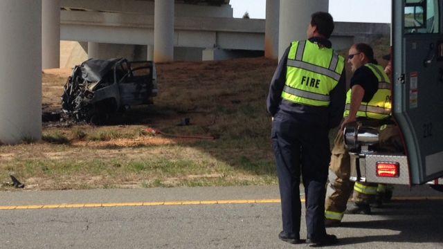 Firefighters on scene of deadly, fiery crash (Fox Carolina)
