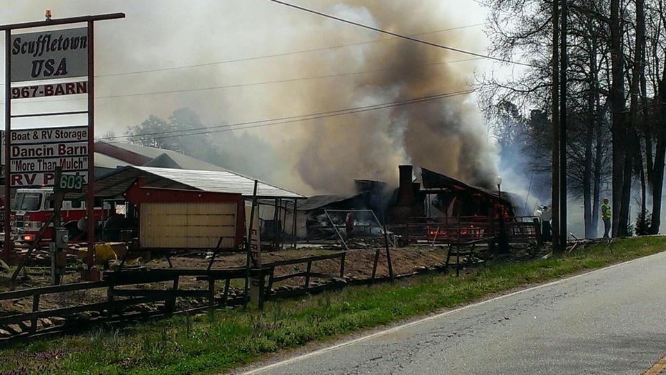 Scuffletown USA fire (Courtesy: Danielle DeWeil)