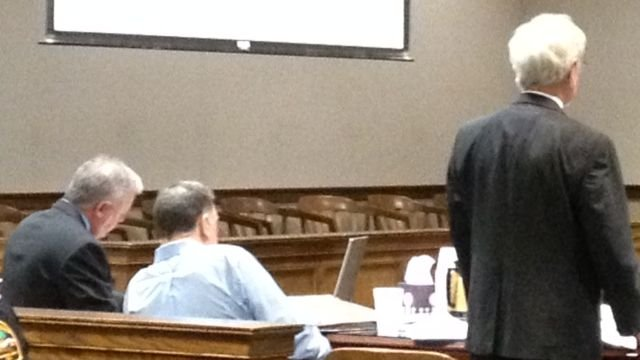 Blackwell (center) in court Sunday. (March 16, 2014/FOX Carolina)