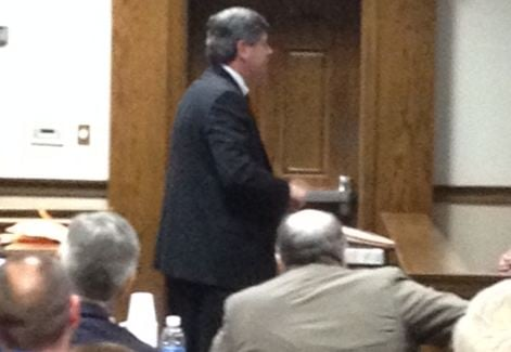 Prosecutor delivers closing argument Sunday. (March 16, 2014/FOX Carolina)