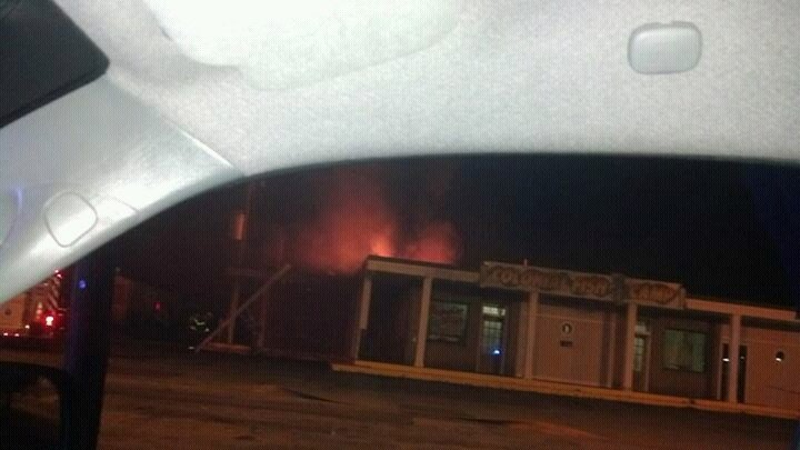 Fire at Colonial Fish Camp (Courtesy: Katie Henderson)
