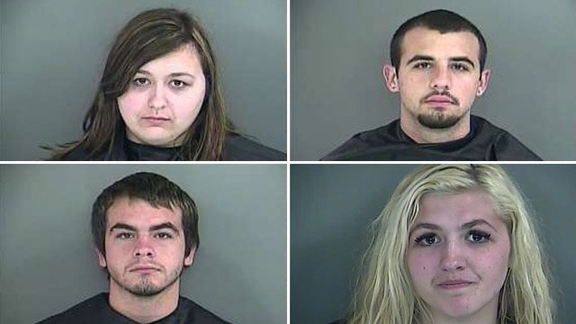 From top-left to bottom-right: Cassidy Lewis, Kenneth Lewis, Randle Lewis and Taylor Lewis (Source: Anderson Co. Sheriff's Office)