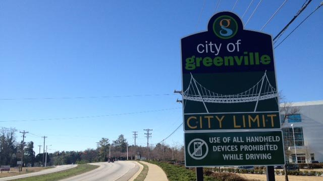 The first sign was placed on Laurens Road entering Greenville from Mauldin. (March 20, 2014/FOX Carolina)