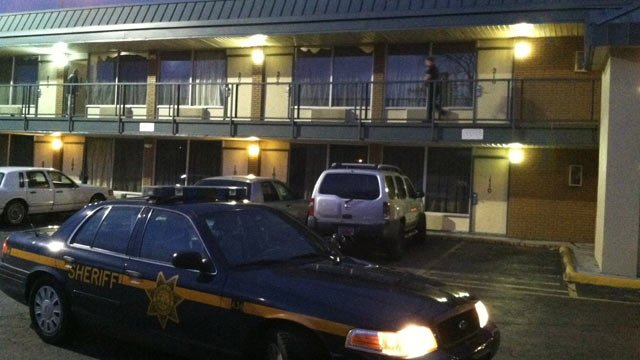 Deputies responded to Country Hearth Inn in Greenville Co. on Tuesday. (March 18, 2014/FOX Carolina)