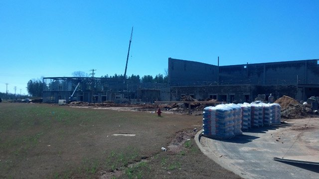 The new Walhalla High School construction. (March 20, 2014/Oconee Co. Sheriff's Office)