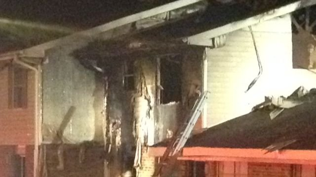 One of the fire-damaged apartments. (March 20, 2014/FOX Carolina)