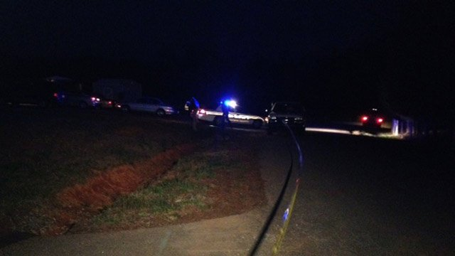 Multiple mobile homes were blocked off by deputies on Tuesday night. (March 25, 2014/FOX Carolina)