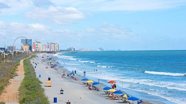 Beach View looking North to Myrtle Beach. (Source: MBACVB)