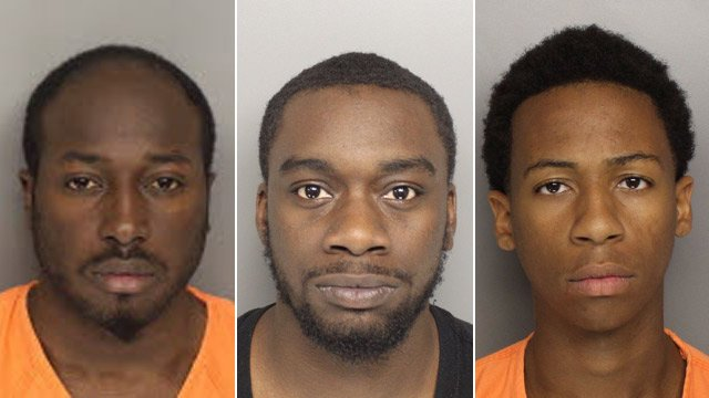 L-R: Donald Burton, Ian Kinlow and Nicholas Williams. (Source: Greenville Co. Sheriff's Office)