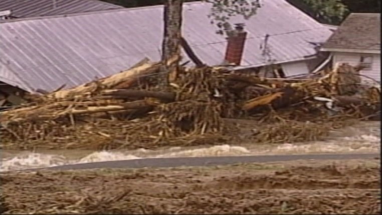 Hurricane Ivan caused this landslide in Macon Co. in 2004 (FOX Carolina)