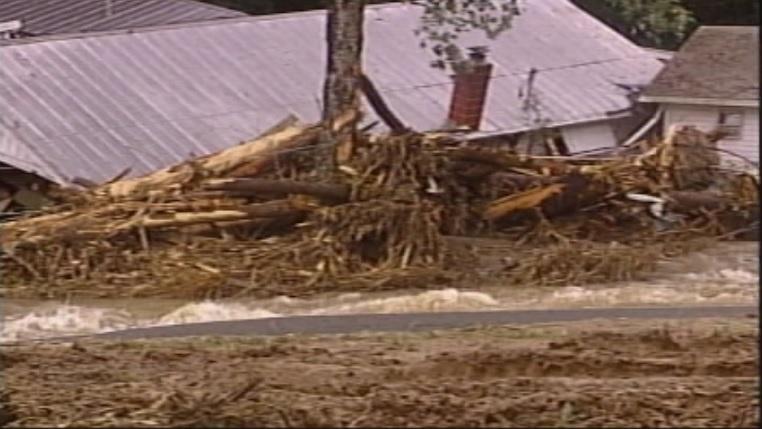 Hurricane Ivan caused this landslide in Macon Co. in 2004 (FOX Carolina)