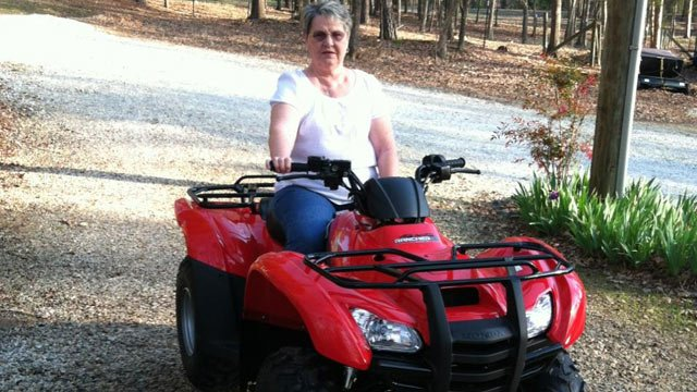 Dianne Lawrence on her prize ATV. (Source: SC Education Lottery)