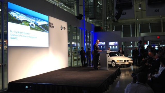 BMW officials announced its plans to invest $1 billion in the next two years (March 28, 2014/FOX Carolina)