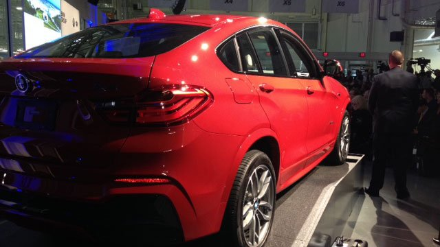 A BMW X4 was on display during the announcement. (March 28, 2014/FOX Carolina)