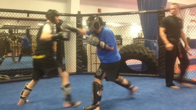 MMA fighters spar in Spartanburg Martial Arts gym (FOX Carolina)