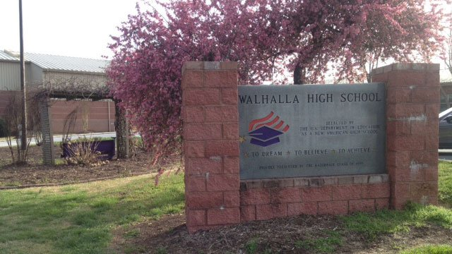 The man accused of posting the picture has been placed on leave from Walhalla High. (March 31, 2014/FOX Carolina)