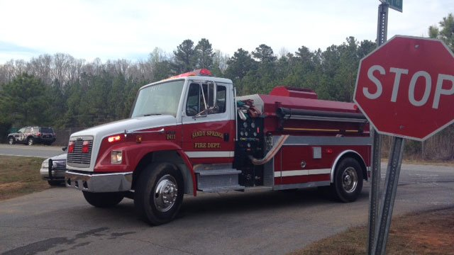 Sandy Springs Fire Department responded to the blaze on Monday. (March 31, 2014/FOX Carolina)