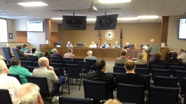 The Oconee County Council meeting Tuesday. (April 1, 2014/FOX Carolina)