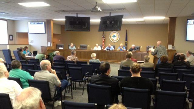 The Oconee County Council meeting Tuesday. (April 1, 2014/FOX Carolina)