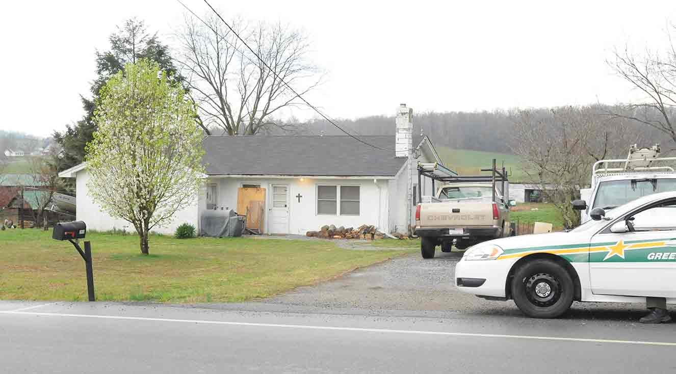 The scene of the murder in Greeneville, TN. (Courtesy of O.J. Early/The Greeneville Sun)