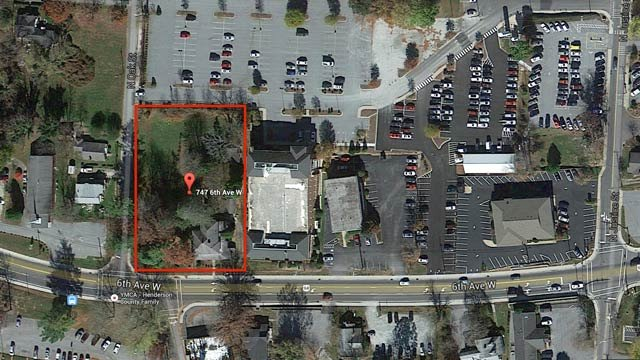 An aerial view of the property. (Source: Henderson Co. Council/Google Maps)