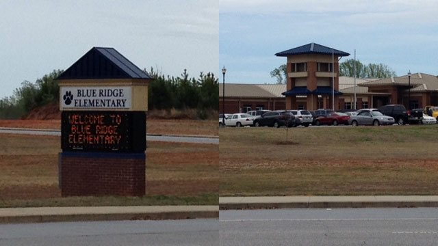 The woman was the principal at Blue Ridge Elementary School in Oconee County. (April 4, 2014/FOX Carolina)