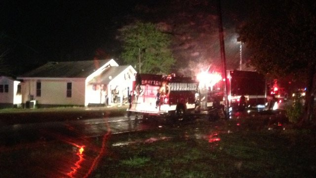 Firefighters respond to Cowpens blaze. (April 7, 2014/FOX Carolina)